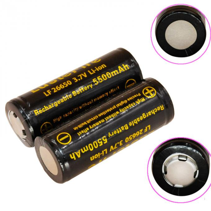 LustFire 26650 5500mah 3.7V Rechargeable Lithium Ion Battery high capacity lithium torch battery