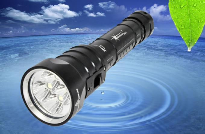 7.4V 3600LM LED Dive Torch LED Dive Flashlight With Rechargeable Battery 1 Year Warranty