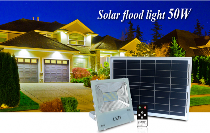 Remote Control Solar Powered Street Lights 6500K Color Temperature For Night Fishing