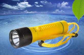 China 800LMLED Dive Torch Under Water 100m Waterproof Plastic Diving Torch D-X4 1xXML2 supplier