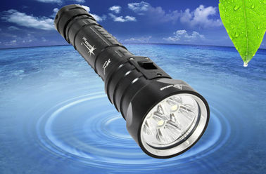China 7.4V 3600LM LED Dive Torch LED Dive Flashlight With Rechargeable Battery 1 Year Warranty supplier