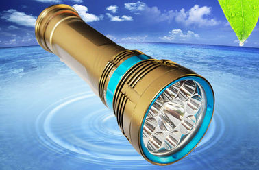 China Scuba Diving Flashlight Scuba Diving Torch 8000Lm Aluminum Alloy Material supplier