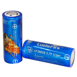 China Lustefire 26650 5000mAh 3.7V Rechargeable Lithium Ion Battery , flashlight li-ion charge batteries distributor