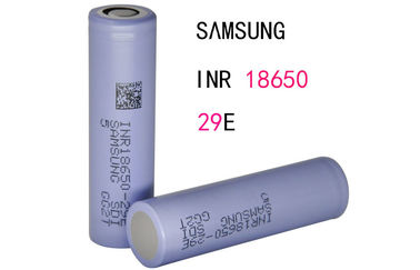 China 2900mAh Electronic Cigarette Battery / SAMSUNG High Amp 18650 Battery factory